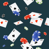 Casino Background Seamless. Vector Royalty Free Stock Photos