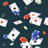 Casino Background Seamless. Vector Royalty Free Stock Photos