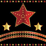Casino background with stars Stock Photo
