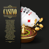 Casino background. Vector Gambling illustration. Royalty Free Stock Photo