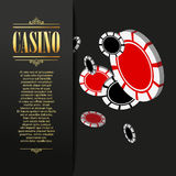 Casino background. Vector Poker illustration. Stock Photos