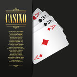 Casino background. Vector Poker illustration. Stock Photo