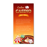 Casino background. Vertical banner, flyer Royalty Free Stock Images