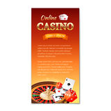 Casino background. Vertical banner Royalty Free Stock Photography
