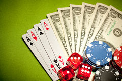 Casino Backkround Royalty Free Stock Images