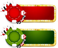 Casino banner Royalty Free Stock Photography