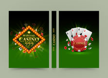Casino banner book. A4 size paper, Template design element, Vector background. Casino banner book. A4 size paper, Template design element, Vector Royalty Free Illustration