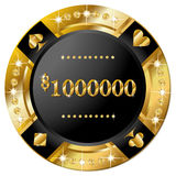 Casino banner. With gold and brilliants Royalty Free Stock Image