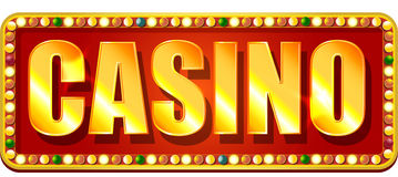 Casino banner Stock Image