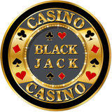 Casino banner. With golden elements and brilliants vector illustration