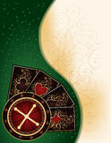 Casino banner with poker cards Stock Photography