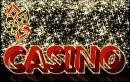 Casino banner with poker elements, vector Stock Images