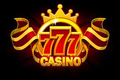 Casino banner with 777 and ribbon. Vector icons on separate layers. Casino banner with 777 and ribbon. Vector Objects on separate layers vector illustration