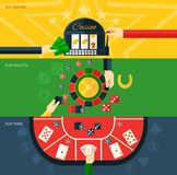 Casino Banner Set Royalty Free Stock Images