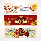 Casino Banner Set Royalty Free Stock Photo