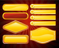 Casino banner sign. Gold casino sign, vector illustration Stock Image