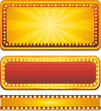Casino banners. Casino neon sign, vector illustration Royalty Free Stock Image