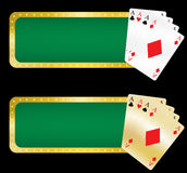 Casino banners. Illustration of casino banners. Poker aces cards Royalty Free Stock Photos