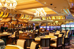 Casino in Bellagio Hotel in Las Vegas Stock Afbeeldingen