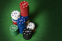 Casino betting chips Royalty Free Stock Photos