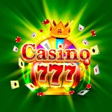 Casino 777 big win slots and fortune king banner. Vector illustration Royalty Free Stock Images