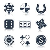 Casino black design elements Stock Image