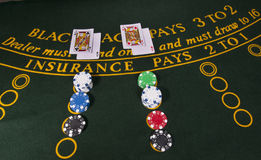 Casino black jack stock images