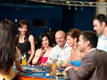 Casino blackjack players Stock Image
