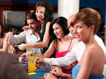 Casino blackjack players Stock Photo