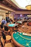 Casino blackjack table Royalty Free Stock Image