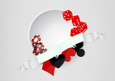 Casino blank round area Stock Images