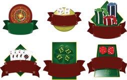 Casino blazon game elements. Stock Images