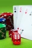 Casino Bones Stock Photos
