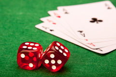 Casino Bones Stock Images