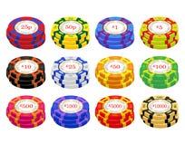 Casino BRITÁNICO Chip Stacks Fotos de archivo libres de regalías