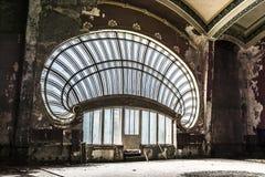 Casino building, Constanta, Romania. CONSTANTA, ROMANIA - JUNE 10, 2017. World art nouveau day with visit inside the abandoned Casino building ,sumptuous stock image