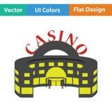 Casino building icon Stock Photography