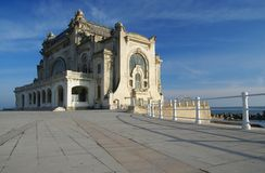Casino building, old symbol of the Constanta City Royalty Free Stock Images