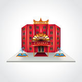 Casino building  vector illustration Stock Photos