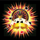 Casino burst Royalty Free Stock Images