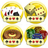 Casino Buttons Royalty Free Stock Images