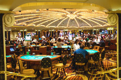 Casino in Caesar's Palace in Las Vegas Stock Photos