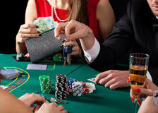 Casino car lost Royalty Free Stock Images