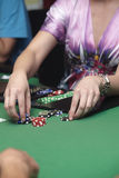 Casino card chip Stock Images