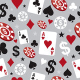 Casino card game pattern illustration Stock Photos