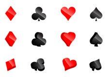 Casino card symbols Royalty Free Stock Image