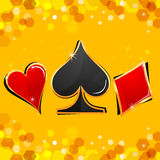 Casino cards. Illustration of casino cards on abstract background stock illustration