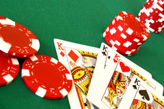 Casino cards and chips Stock Photography