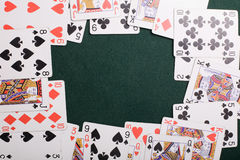Casino cards frame Royalty Free Stock Images