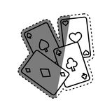 Casino cards game concept. Icon vector illustration graphic design royalty free illustration